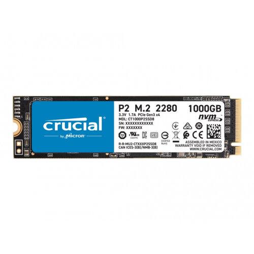 Crucial P2 - Solid state drive - 1 TB - internal - M.2 2280 - PCI Express 3.0 x4 (NVMe)