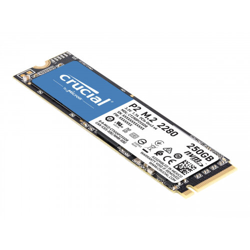 Crucial P2 - Solid state drive - 250 GB - internal - M.2 2280 - PCI Express 3.0 x4 (NVMe)