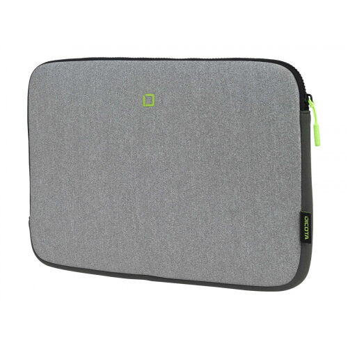 DICOTA Skin FLOW - Notebook sleeve - 13&uot; - 14.1&uot; - grey, green