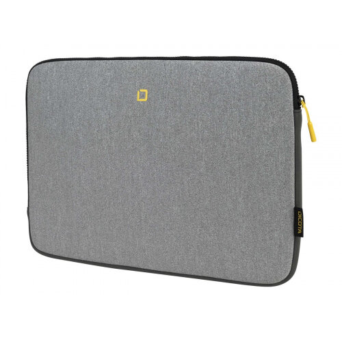DICOTA Skin FLOW - Notebook sleeve - 13&uot; - 14.1&uot; - grey, yellow