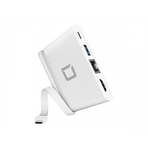 DICOTA USB-C Portable Docking 4-in-1 with HDMI - Docking station - USB-C - HDMI