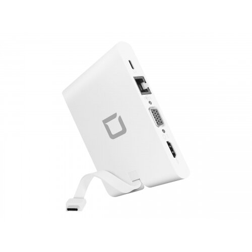 DICOTA USB-C Portable Docking 9-in-1 with HDMI - Docking station - USB-C - VGA, HDMI