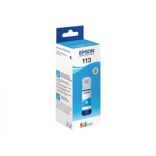 Epson EcoTank 113 - 70 ml - cyan - original - ink refill - for EcoTank ET-16150, 16600, 16650, 5800, 5850, 5880; EcoTank Pro ET-16600, 16650, 5800, 5850