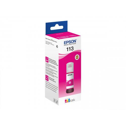 Epson EcoTank 113 - 70 ml - magenta - original - ink refill - for EcoTank ET-16150, 16600, 16650, 5800, 5850, 5880; EcoTank Pro ET-16600, 16650, 5800, 5850