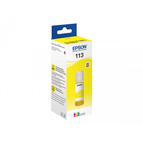 Epson EcoTank 113 - 70 ml - yellow - original - ink refill - for EcoTank ET-16150, 16600, 16650, 5800, 5850, 5880; EcoTank Pro ET-16600, 16650, 5800, 5850