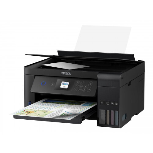 Epson EcoTank ET-2751 - Multifunction printer - colour - ink-jet - A4/Legal (media) - up to 33 ppm (printing) - 100 sheets - USB, Wi-Fi - black
