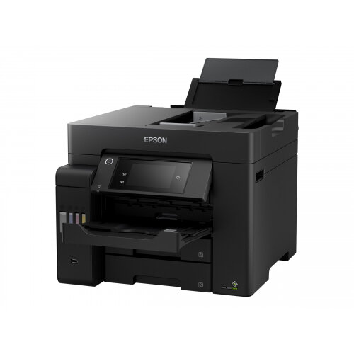 Epson EcoTank ET-5800 - Multifunction printer - colour - ink-jet - A4 (210 x 297 mm) (original) - A4 (media) - up to 32 ppm (printing) - 550 sheets - 33.6 Kbps - USB 2.0, LAN, Wi-Fi(ac) - black