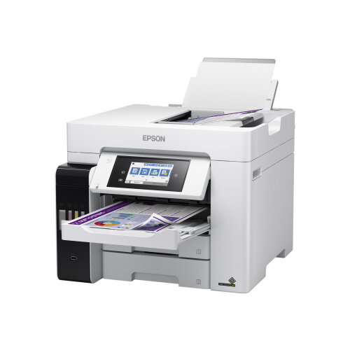 Epson EcoTank ET-5880 - Multifunction printer - colour - ink-jet - A4 (210 x 297 mm) (original) - A4 (media) - up to 32 ppm (printing) - 550 sheets - 33.6 Kbps - USB, LAN, Wi-Fi