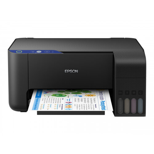 Epson EcoTank L3111 - Multifunction printer - colour - ink-jet - refillable - A4/Legal (media) - up to 33 ppm (printing) - 100 sheets - USB - black
