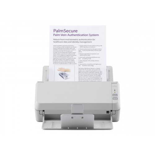 Fujitsu SP-1120N - Document scanner - Dual CIS - Duplex - 216 x 355.6 mm - 600 dpi x 600 dpi - up to 20 ppm (mono) / up to 20 ppm (colour) - ADF (50 sheets) - up to 3000 scans per day - Gigabit LAN, USB 3.2 Gen 1x1