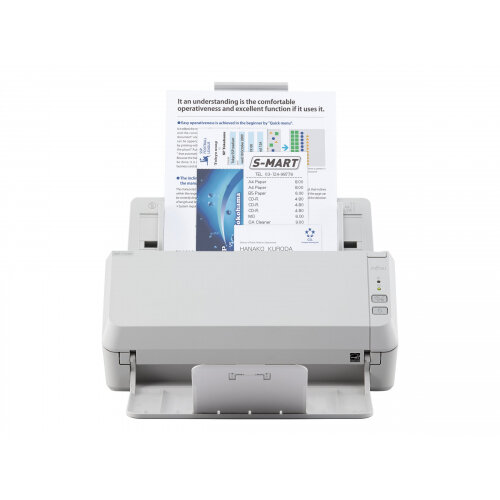 Fujitsu SP-1125N - Document scanner - Dual CIS - Duplex - 216 x 355.6 mm - 600 dpi x 600 dpi - up to 25 ppm (mono) / up to 25 ppm (colour) - ADF (50 sheets) - up to 4000 scans per day - Gigabit LAN, USB 3.2 Gen 1x1