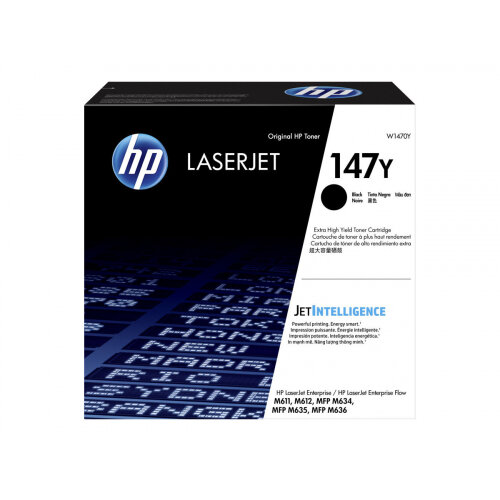 HP 147Y - Extra High Yield - black - original - LaserJet - toner cartridge (W1470Y) - for LaserJet Enterprise MFP M635; LaserJet Enterprise Flow MFP M634, MFP M635, MFP M636