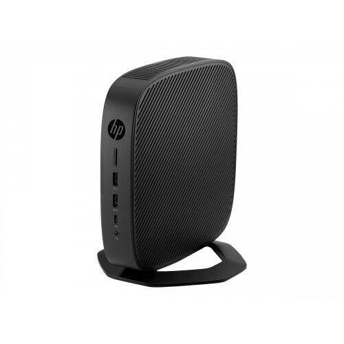 HP t640 - Thin client - SFF - 1 x Ryzen Embedded R1505G / 2.4 GHz - RAM 4 GB - flash 16 GB - Radeon Vega 3 - GigE - HP ThinPro - monitor: none - keyboard: UK