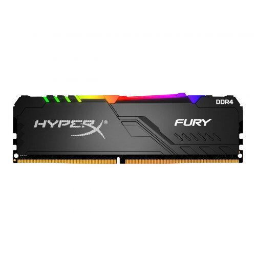 HyperX FURY RGB - DDR4 - 16 GB Kit : 2 x 8 GB - DIMM 288-pin - 2666 MHz / PC4-21300 - CL16 - 1.2 V - unbuffered - non-ECC - black