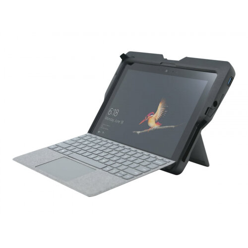 Kensington BlackBelt Rugged Case with Integrated CAC Reader for Surface Go and Surface Go 2 (K97320WW) - Protective case for tablet - rugged - silicone, polycarbonate, acrylonitrile butadiene styrene (ABS), thermoplastic polyurethane (TPU) - black - gover