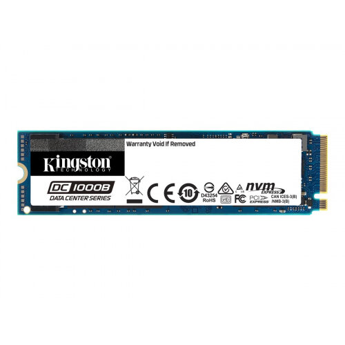 Kingston Data Center DC1000B - Solid state drive - encrypted - 480 GB - internal - M.2 2280 - PCI Express 3.0 x4 (NVMe) - 256-bit AES - Self-Encrypting Drive (SED)