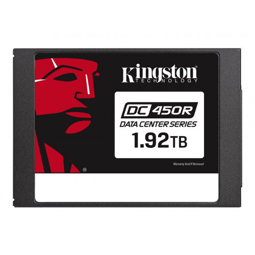 Kingston Data Center DC450R - Solid state drive - encrypted - 1.92 TB - internal - 2.5&uot; - SATA 6Gb/s - 256-bit AES - Self-Encrypting Drive (SED)