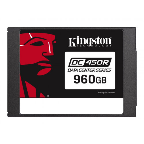 Kingston Data Center DC450R - Solid state drive - encrypted - 960 GB - internal - 2.5&uot; - SATA 6Gb/s - 256-bit AES - Self-Encrypting Drive (SED)