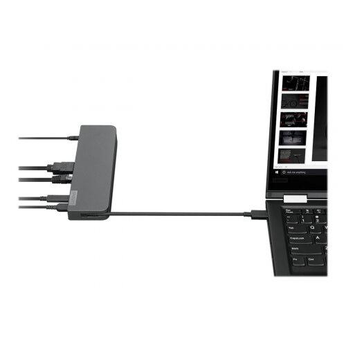 Lenovo USB-C Mini Dock - Mini-dock - USB-C - VGA, HDMI - GigE - 65 Watt - for ThinkBook 14 G2 ITL; 15 G2 ITL; ThinkPad E14 Gen 2; P14s Gen 1; Yoga Slim 7 Carbon 13