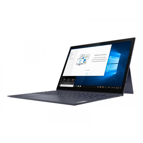 Lenovo Yoga Duet 7 13IML05 82AS - Tablet - with detachable keyboard - Core i5 10210U / 1.6 GHz - Win 10 Pro 64-bit - 8 GB RAM - 256 GB SSD NVMe - 13&uot; touchscreen 2160 x 1350 (WQHD) - UHD Graphics - Bluetooth, Wi-Fi - slate grey - kbd: UK