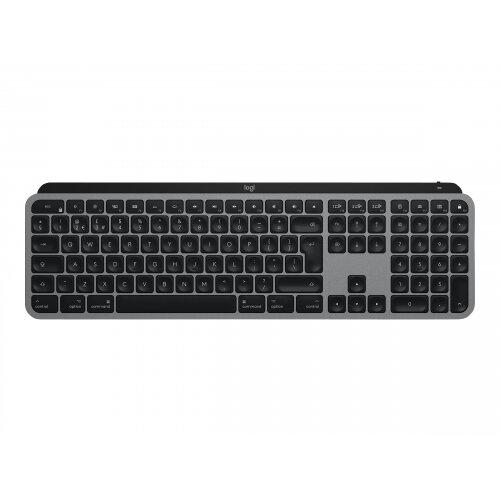 Logitech MX Keys for Mac - Keyboard - backlit - Bluetooth, 2.4 GHz - QWERTY - UK - space grey