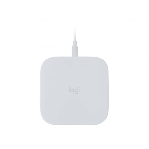 Logitech Powered Pad - Wireless charging pad + AC power adapter - 9 Watt - Fast Charge - off white