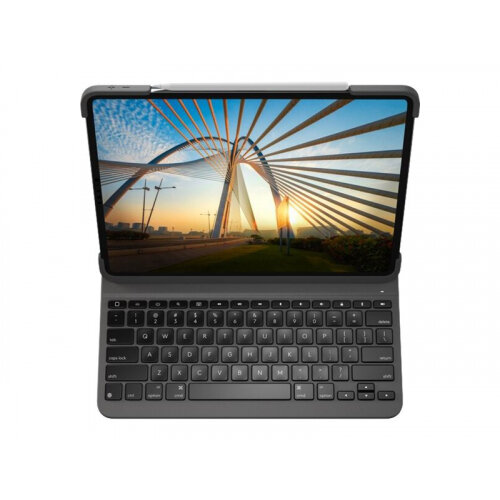 Logitech Slim Folio Pro - Keyboard and folio case - backlit - wireless - Bluetooth LE - QWERTY - UK - for Apple 12.9-inch iPad Pro (3rd generation, 4th generation)