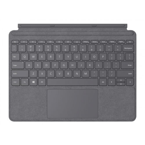 Microsoft Surface Go Type Cover - Keyboard - with trackpad, accelerometer - backlit - British English - light charcoal - commercial - for Surface Go, Go 2