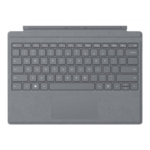 Microsoft Surface Pro Signature Type Cover - Keyboard - with trackpad - backlit - English - light charcoal - commercial - for Surface Pro (Mid 2017), Pro 3, Pro 4, Pro 6