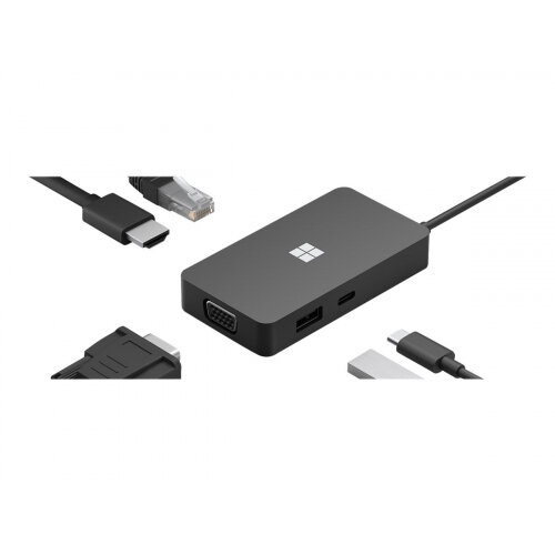 Microsoft USB-C Travel Hub - Docking station - USB-C - VGA, HDMI - GigE