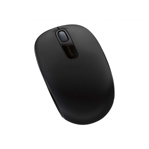 Microsoft Wireless Mobile Mouse 1850 - Mouse - right and left-handed - optical - 3 buttons - wireless - 2.4 GHz - USB wireless receiver - black