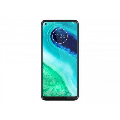 Motorola Moto G8 - Smartphone - dual-SIM - 4G LTE - 64 GB - microSD slot - GSM - 6.4&uot; - 1560 x 720 pixels (269 ppi) - IPS - RAM 4 GB (8 MP front camera) - 3x rear cameras - Android - neon blue
