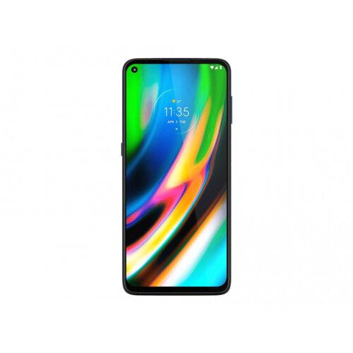 Motorola Moto G9 Plus - Smartphone - dual-SIM - 4G LTE - 128 GB - microSD slot - GSM - 6.8&uot; - 2400 x 1080 pixels (386 ppi) - LTPS - RAM 4 GB (16 MP front camera) - 4x rear cameras - Android - navy blue