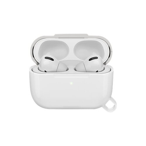 OtterBox Ispra Series - Case for wireless earphones - polycarbonate, zinc alloy, thermoplastic elastomer (TPE) - moon crystal grey - for Apple AirPods Pro