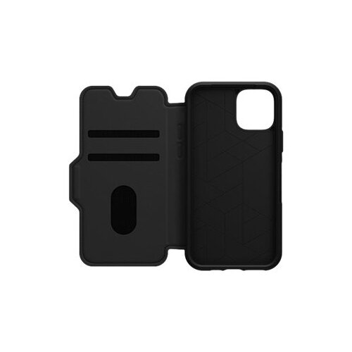 OtterBox Strada Series - Flip cover for mobile phone - leather, polycarbonate - shadow black - for Apple iPhone 11 Pro