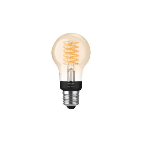 Philips Hue White - LED filament light bulb - shape: A60 - E27 - 7 W (equivalent 40 W) - class A+ - soft white light - 2100 K