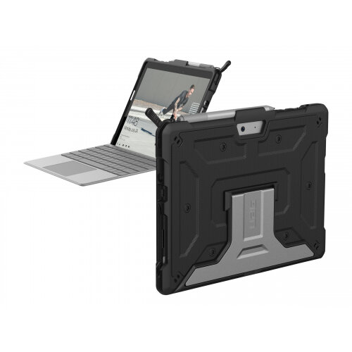 UAG Rugged Case for Microsoft Surface Go / Surface Go 2 - Metropolis Black - Back cover for tablet - rugged - aluminium - black - for Microsoft Surface Go, Go 2