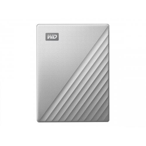WD My Passport Ultra WDBC3C0010BSL - Hard drive - encrypted - 1 TB - external (portable) - USB 3.0 (USB-C connector) - 256-bit AES - silver