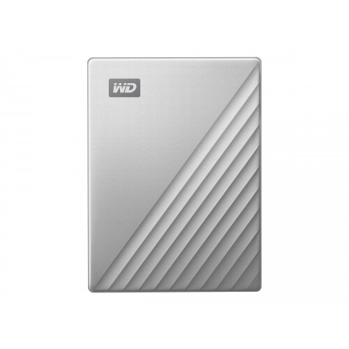 WD My Passport Ultra WDBFTM0040BSL - Hard drive - encrypted - 4 TB - external (portable) - USB 3.0 (USB-C connector) - 256-bit AES - silver