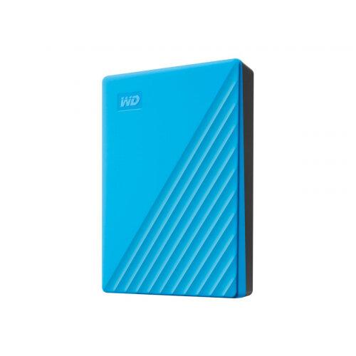 WD My Passport WDBPKJ0040BBL - Hard drive - encrypted - 4 TB - external (portable) - USB 3.2 Gen 1 - 256-bit AES - blue