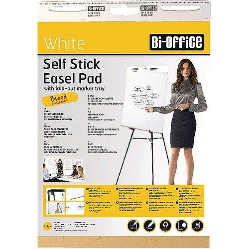 Bi-Office Self-Stick Flipchart Pad 635x780mm 30 Sheets White Pack of 2 FL128107