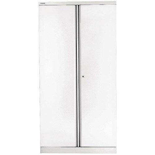 Bisley 78 Two Door Cupboard Chalk White By42036
