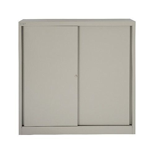 Bisley Cupboard 2 Dual Purpose Shelves Grey