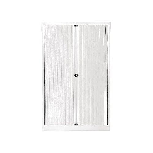 Bisley Chalk Euro Tambour White Shutter 3 Shelves