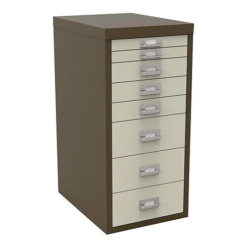 Bisley Multi-Drawer Cabinet 29 inches Non-Locking Coffee/Cream 29/8B H298BNL-005006