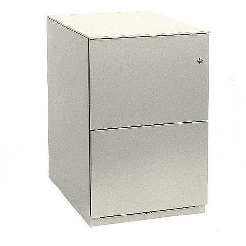 Bisley Note Pedestal Mobile 2 Filing Drawers White