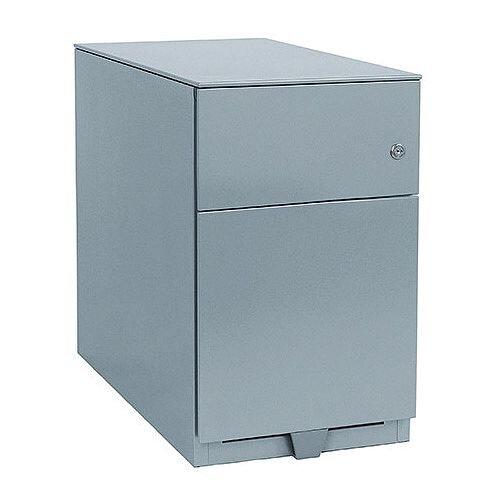 Bisley Note Pedestal Mobile 1 Stationery 1 Filing Drawer Grey