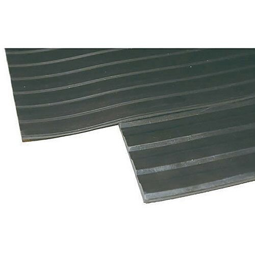 Broad Ribbed Matting 3mm 1200mm x2 Linear Metre Black 2x379272