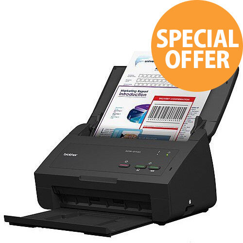 Brother ADS-2100e High Speed & Easy to Use  A4 Colour ADF Duplex Document Scanner