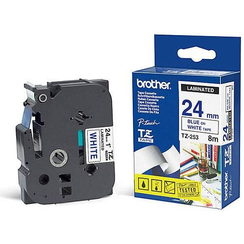 Brother P-Touch Tape 24mm Blue TZE253